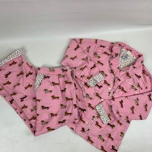Munki Munki Flannel Pajama Set Weiner Dogs